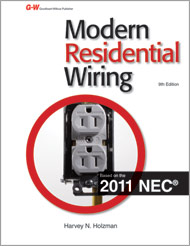 modern residential wiring 9th edition rh g wonlinetextbooks com Home Electrical Wiring Diagrams electrical wiring residential 2011