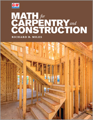 Math for Carpentry and Construction, 1st Edition