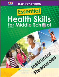 Essential Health Skills for Middle School 2e, Online Instructor Resource Suite
