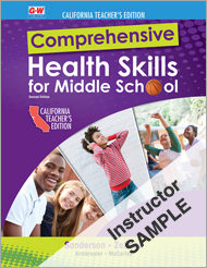Comprehensive Health Skills for Middle School 2e, California Online Instructor Resource Suite SAMPLE