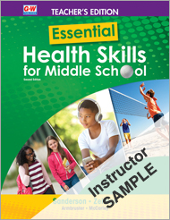 Essential Health Skills for Middle School 2e, Online Instructor Resource Suite SAMPLE