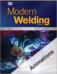 Modern Welding, 12th Edition, Animations